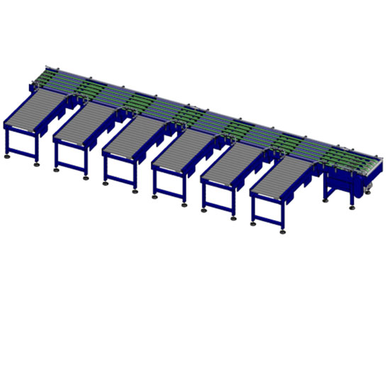 Carton narrow-belt sorter