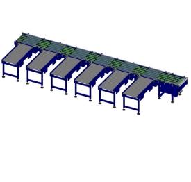 Carton narrow-belt sorter
