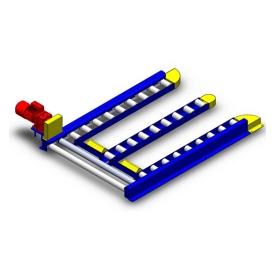 Pallet grounding roller conveyor