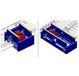 Carton pneumatic lift transfer unit
