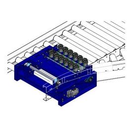 Carton pneumatic lift wheel diverter
