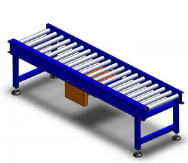 Carton motorized roller conveyor